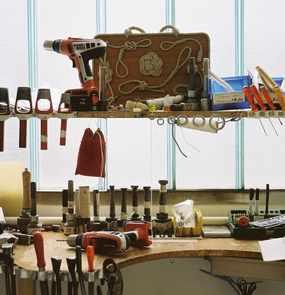 Das Werkzeug in der Segelmacher-Werkstatt