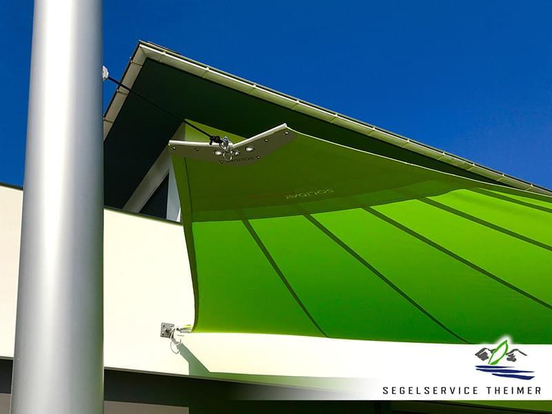 Sonnensegel-Befestigung für den sicheren Halt des Sonnensegels